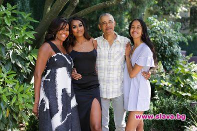 Семейство Обама заедно за Деня на благодарността