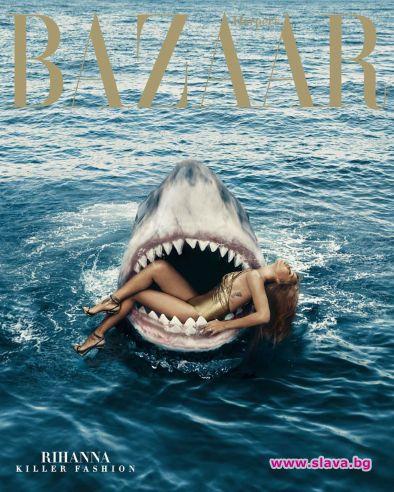 Риана в челюстите на акула за ЧРД