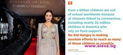 Анджелина Джоли дарява 1 милион долара на деца в нужда