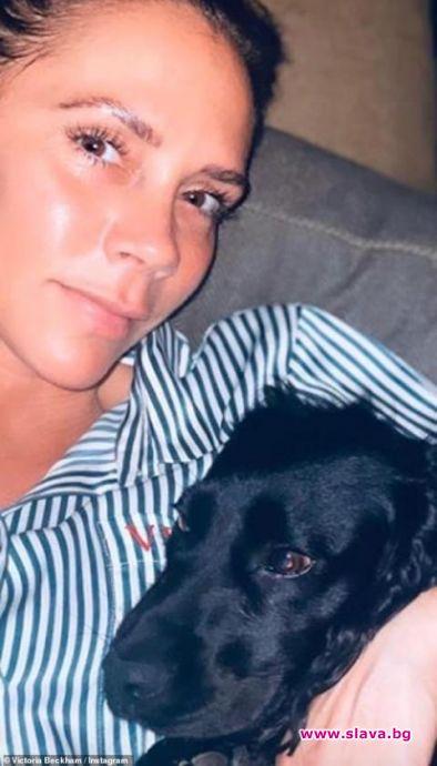 Виктория Бекъм без грим по време на изолацията