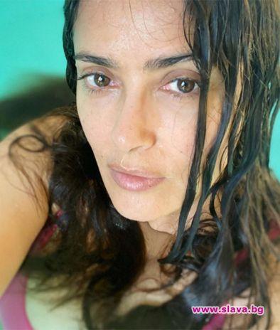 Салма Хайек отблизо, без грим