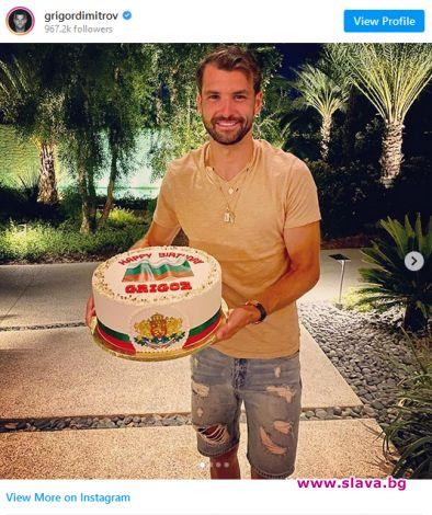 Гришо и специалната торта за рождения му ден