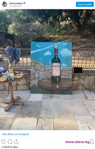 Джони Деп показа художническите си заложби