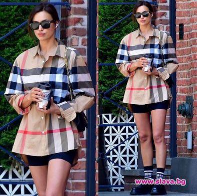 Блуза за 2000 и панталонки за 20 долара: Ирина Шейк