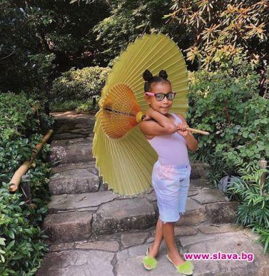Първородната дъщеря на Ким и Кание стана на 7