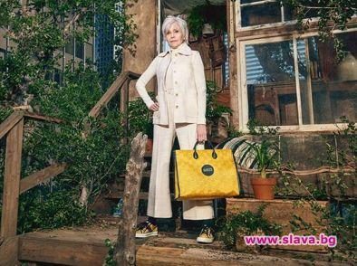 Джейн Фонда на 82 е новото лице на Gucci