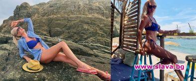 Майката на Луиза Григорова показа убийствени крака на 50