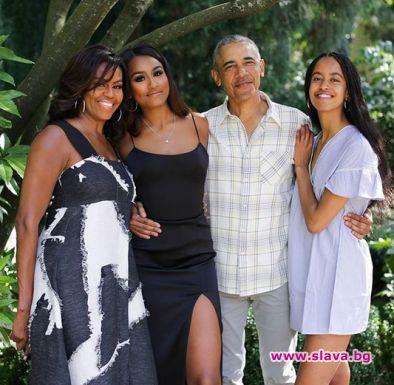 Мишел Обама с романтичен поздрав към мъжа си