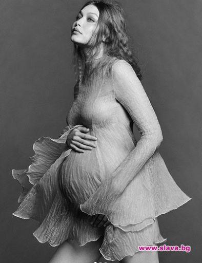 Джиджи Хадид с бременна фотосесия