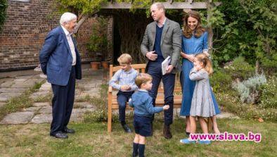 Принц Луи износва драхите на принц Джордж