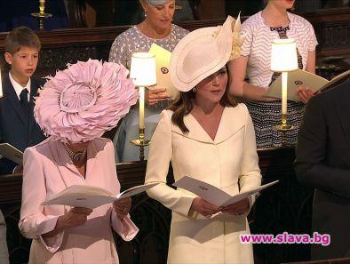 Херцогинята на Кеймбридж сложи палто на Александър Маккуин за сватбата