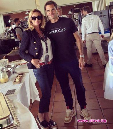 Деси Зидарова налази Роджър Федерер в Германия. Топ манекенката се