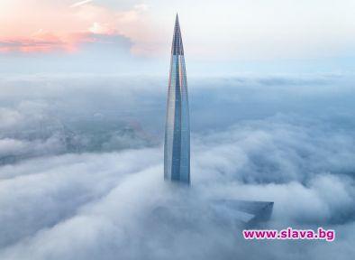 Най-високата сграда в Европа е почти завършена. Издигайки се над