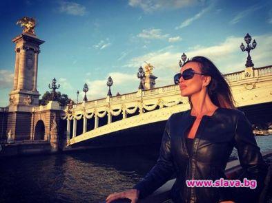 Примата на родния фолк Глория се влюби в Париж.Певицата е