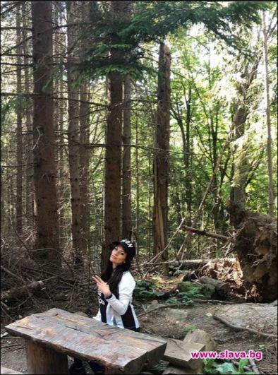 С ходене в гората се вталява фолк певицата Преслава. Изпълнителката,