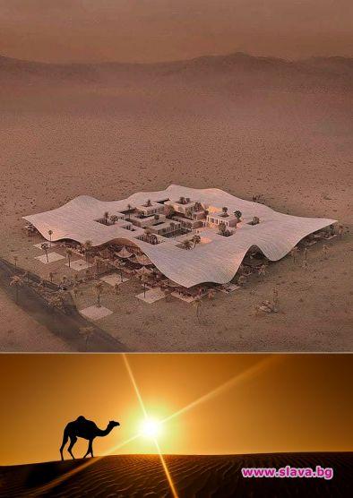 Пустинята е последното място, където някой би инвестирал в хотел.