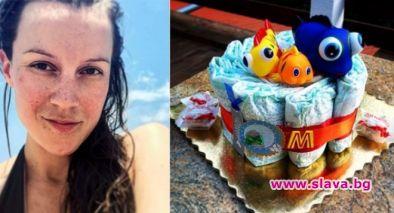 Торта от памперси получи актрисата Дария Симеонова. Звездата от Откраднат