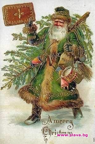 Оригиналният цвят на дрехата на Санта Клаус, който не е