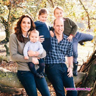 Всяка година семейството на Кейт и Уилям заснема специална коледна