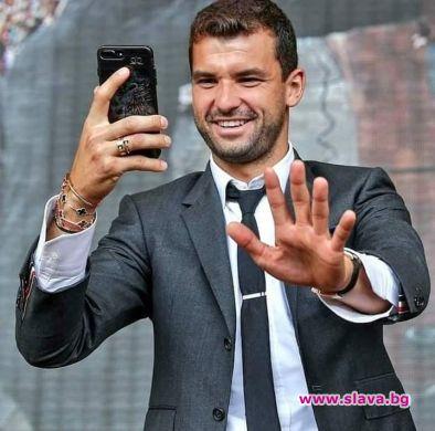 Най-добрият ни тенисист Григор Димитров сподели кадър в социалните мрежи,