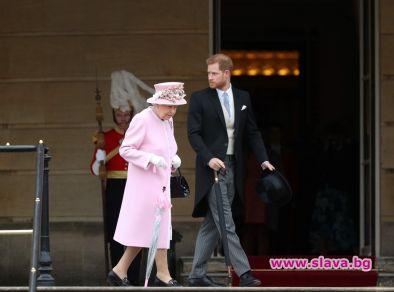 Принц Хари имаше възможност да прекара малко време с баба