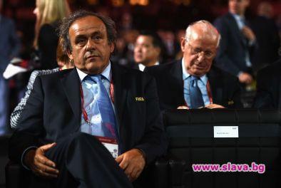 Бившият президент на УЕФА Мишел Платини, близък приятел на Боби
