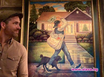 Снимка: Блейк Лайвли запечата родния дом на Райън Рейнолдс в картина