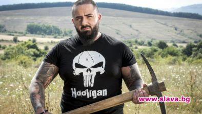"""Иван Милин, татуираният здравеняк от """"Фермата"""", който удари шамар на"""