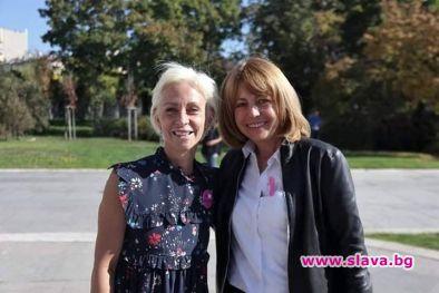 Снимка: Фандъкова се включи в кампанията за превенция срещу рака на гърдата