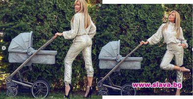 Златка Райкова упорито държи да демонстрира стил като млада майка.Едва