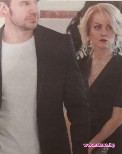 Стилна блондинка е успяла да прикове вниманието на актьора Ивайло
