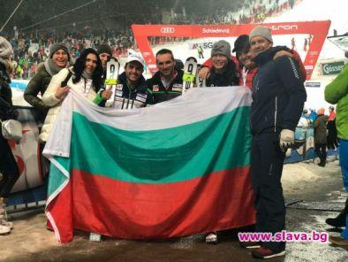 Семейството на водещия ни алпиец Алберт Попов отново беше близо