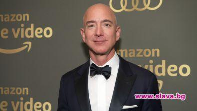 Изпълнителният директор на Amazon Джеф Безос оглавява за трети път