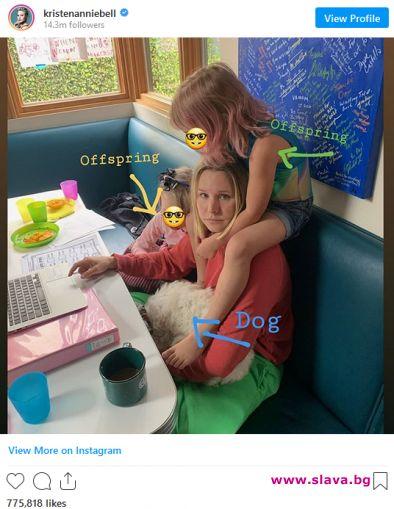 Кристен Бел направи изненадващо признание относно 5-годишната ѝ дъщеря –