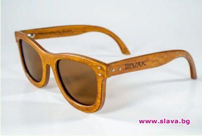 Слънчеви очила, изработени от дърво, е проектирал български дизайнер. Наречени