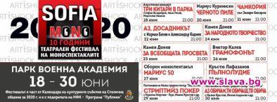 Десетото издание на фестивала СОФИЯ МОНО се завръща и отново