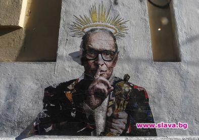 Графит с Енио Мориконе се появи на стена в Рим