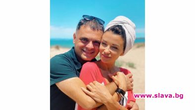 Моделът Диляна Попова и големият наш цигулар Васко Василев релаксират