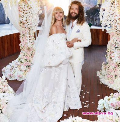 Една година от бракосъчетанието си празнува Хайди Клум. Моделът отбеляза