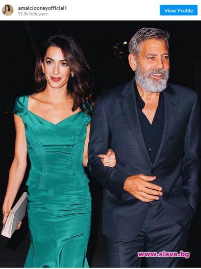 Джордж и Амал Клуни показват своята подкрепа към Бейрут. Два