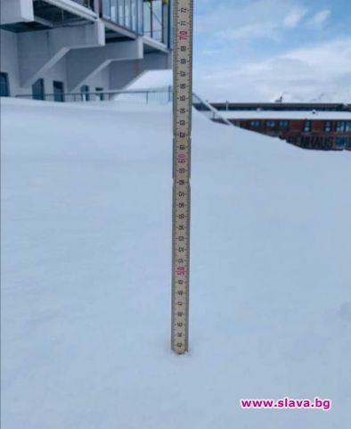 Снежна покривка от 42 см натрупа първият за сезона сняг