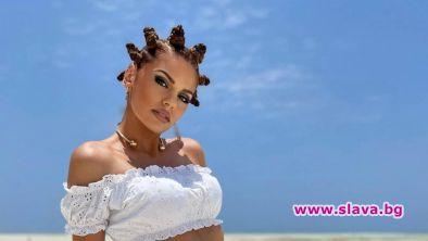 Михаела Филева е заснела част от клипа към песента Ин