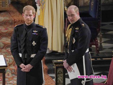 Британският принц Уилям се опасява, че брат му Хари може