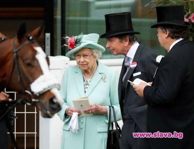 Кралица Елизабет Втора не пропусна и този път конните надбягвания
